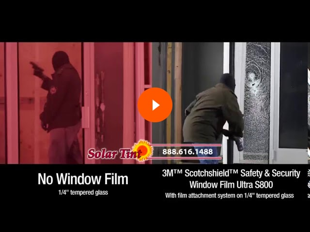 3M window film helps make glass bulletproof and can stop active shooters from entering the building