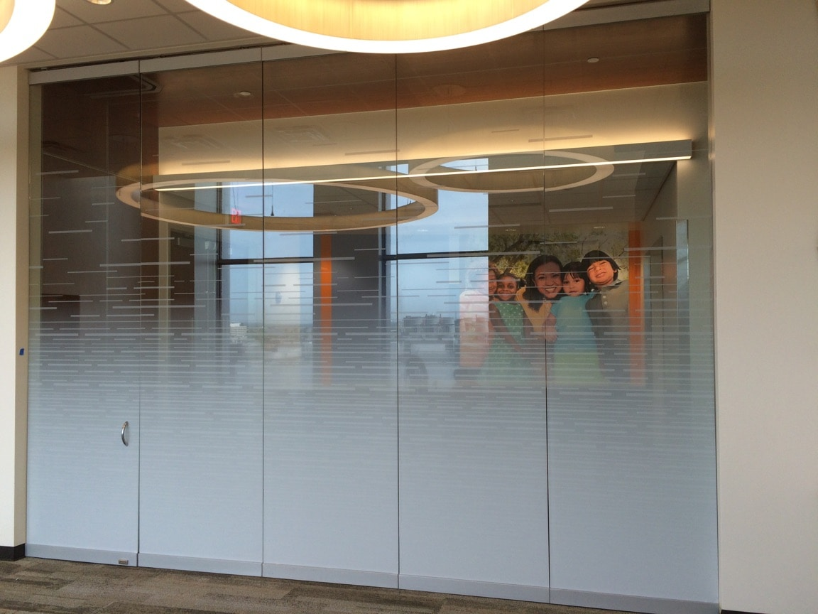 decorative window film for offices, hospitals, universities, and commercial buildings