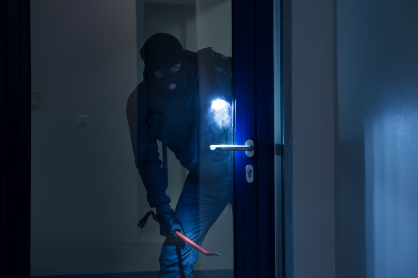 thief with crowbar