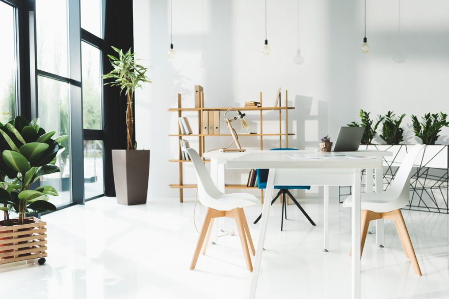 modern office with natural light